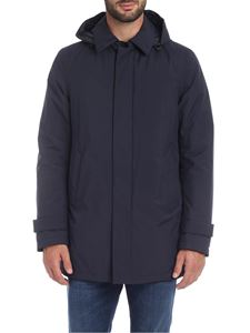 Herno Laminar - Overcoat in blue with hood