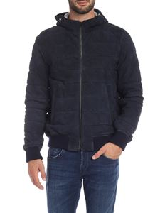 Herno - Resort down jacket in blue suede