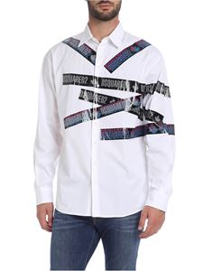 Dsquared2 - Tape prints shirt in white