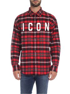 Dsquared2 - Camicia Icon check rossa
