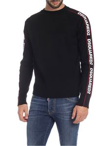 Dsquared2 - Ski pullover in black with logo bands