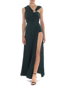 Elisabetta Franchi - Lame dress in glass green with star