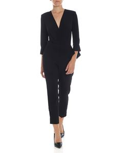 Elisabetta Franchi - Crossover crop jumpsuit in black