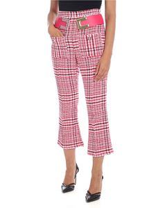 Elisabetta Franchi - Embroidered trousers in fuchsia with logo