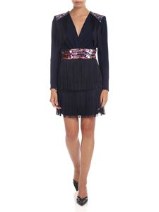 Elisabetta Franchi - Dress in blue with sequins and fringes