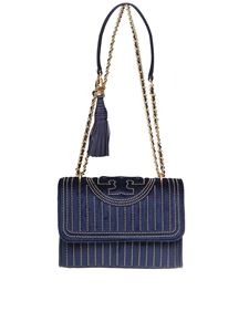 Tory Burch - Fleming mini stud small bag in navy blue