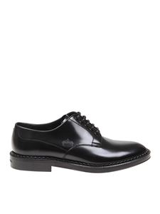 Dolce & Gabbana - Embossed crown derby shoes in black