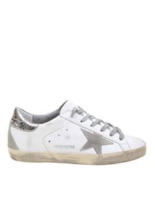 Golden Goose Deluxe Brand - Superstar sneakers in white and silver reptile