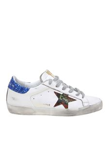 Golden Goose Deluxe Brand - Superstar sneakers in white with glitter back