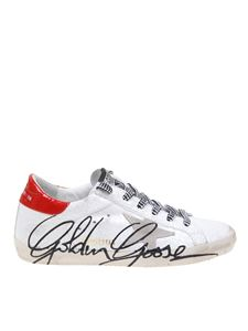 Golden Goose - Sneakers Superstar bianche con firma