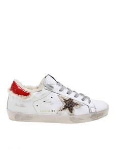 Golden Goose Deluxe Brand - Superstar sneakers in white with sherling