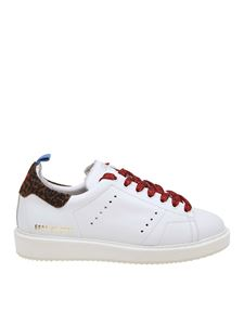 Golden Goose Deluxe Brand - Starter sneakers in white with lurex laces