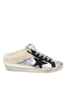 Golden Goose Deluxe Brand - Superstar Sabot sneakers in silver leather