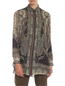 Etro - Paisley print shirt in green and beige
