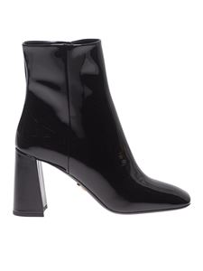 Prada - Ankle boots in black patent leather