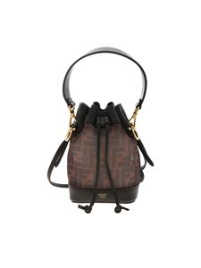Fendi - Mini Mon Tresor bucket in brown