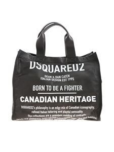 Dsquared2 - Canadian Heritage shopper bag in black leather