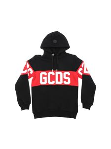 GCDS - Black sweatshirt with red GCDS insert