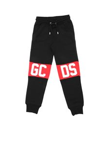 GCDS - Black pants with GCDS logo