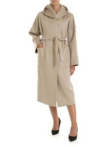 Max Mara - Marilyn coat in beige with hood