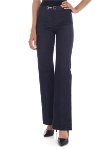 S Max Mara - Balta trousers in dark blue denim