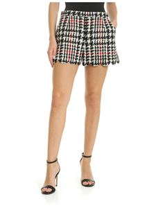 Red Valentino - Houndstooth shorts in black and white