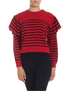 Red Valentino - Striped pullover in red and black