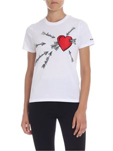 Red Valentino - Love embroidery T-shirt in white