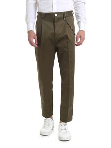 Ribbon Clothing - Pantalone slim fit verde