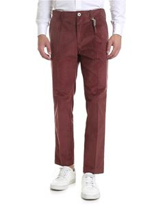 Ribbon Clothing - Pantalone in corduroy rosso mattone