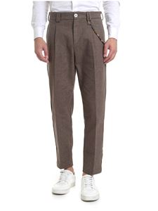 Ribbon Clothing - Pantalone sui toni del marrone con catena