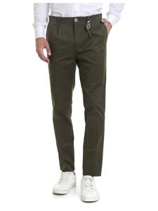 Ribbon Clothing - Pantalone in cotone stretch verde militare