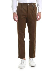 Ribbon Clothing - Pantalone slim fit marrone melange