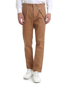 Ribbon Clothing - Raw cut trousers in brown