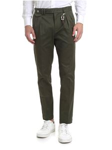 Ribbon Clothing - Pantalone slim fit verde militare