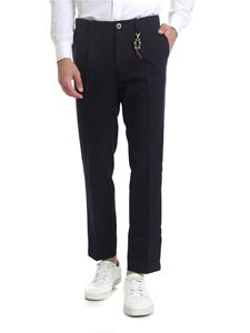 Ribbon Clothing - Pantalone slim fit blu scuro