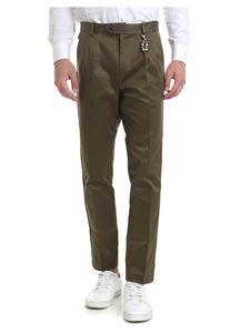 Ribbon Clothing - Trousers in Army green with charm