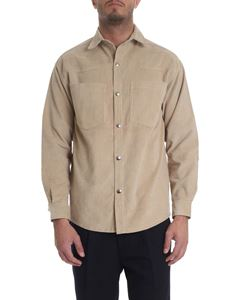 Ribbon Clothing - Corduroy cotton shirt in beige