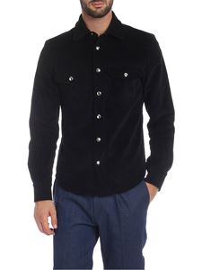 Ribbon Clothing - Corduroy cotton shirt in black
