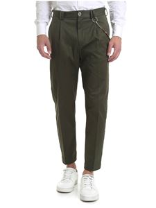 Ribbon Clothing - Pantalone verde con catenella