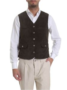 Ribbon Clothing - Gilet in corduroy verde militare
