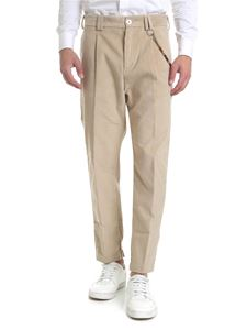 Ribbon Clothing - Pantalone beige con catena