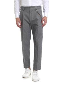 Ribbon Clothing - Pantalone grigio melange con catena