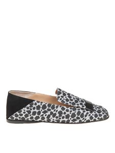 Sergio Rossi - Animal printed slippers in glitter fabric