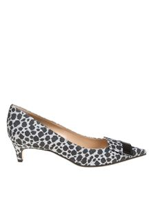 Sergio Rossi - Glittery animal printed fabric pumps