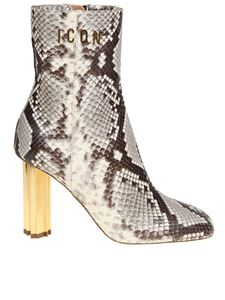 Dsquared2 - Animal printed leather ankle boots
