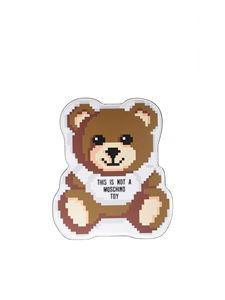Moschino - Teddy Bear Pixel clutch in white