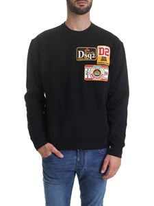 Dsquared2 - Multi-patch sweatshirt in black