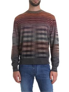 Missoni - Crew-neck pullover with pattern in shades of red