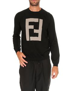 Fendi - Cashmere and wool pullover with FF intarsia